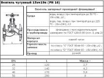 Купить вентиль клапан чугунный фланцевый 15ч9п 15ч9р Ду25 Ру16 Харьков Украина