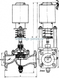 Вентиль чугунный фланцевый 15кч892п  Ру16 с приводом
