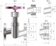 Вентиль стальной 15с51п (15с12п) Ру25