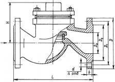 Клапан обратный чугунный 16ч6п (р) Ду65-150 Ру16