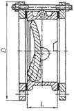 Клапан обратный чугунный 19ч21бр (р) Ру16