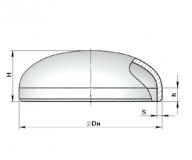 Заглушка эллиптическая стальная  ГОСТ 17379-01