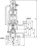 Клапан предохранительный 17с28нж Ду50-100 Ру16