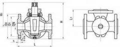 Кран трехходовой фланцевый 11ч18бк Ду25-100