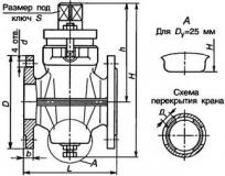 Купить Кран пробковый латунный фланцевый 11Б7бк Ду25 Ру10 Харьков