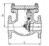 Клапан обратный стальной 19с53нж Ру40