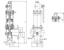 Клапан предохранительный 17с6нж (17с17нж) Ру16 с ручным подрывом