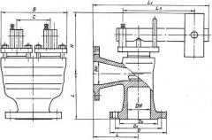 Клапан 17ч18бр 17ч3бр Ру16 предохранительный рычажный Ду25-100