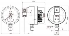 Манометр электроконтактный ДМ2010-У2, ДА2010-У2, ДВ2010-У2