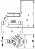 Счетчики воды МТК-UA-15 Ду15 на холодную воду Gross сухоход
