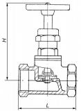 Вентиль латунный муфтовый 15б3р  Ру10
