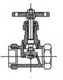 Вентиль латунный муфтовый 15б1п  Ру16