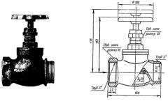 Вентиль латунный муфтовый пожарный 1б1р  Ру10