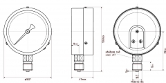 Манометр МП3-У технический общего назначения Ду100 Ру10