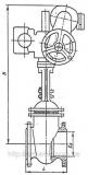 Задвижка чугунная под электропривод 30ч906бр Ду80 Ру10