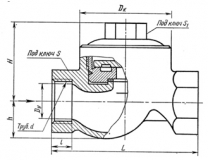 Конденсатоотводчик термодинамический муфтовый 45ч12нж Ду25 Ру16
