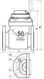Счетчик воды WPK-UA 50 холодная вода Ду50 турбинный фланцевый фирмы Gross