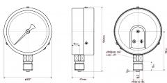Манометр МП3-У технический общего назначения Ду100 Ру16