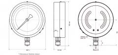 Манометр МП4-У технический общего назначения Ду160 Ру6