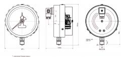 Манометр электроконтактный ДМ2005-У ЭКМ сигнализирующий Ду160 Ру10