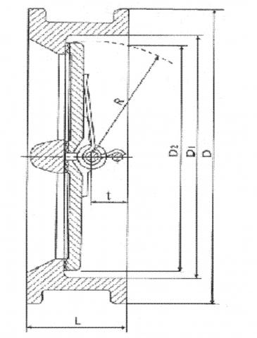 Клапан обратный чугунный Ру16 (Словакия) VITECH