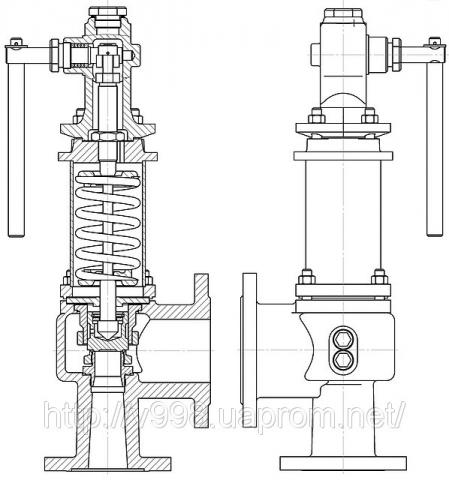 Клапан предохранительный СППКР 100-160-01